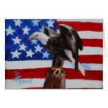 Tarjeta en blanco del aceo de Eagle de la libertad
