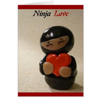 Tarjeta en blanco del amor de Ninja