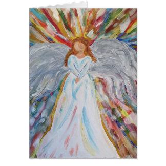 Tarjeta en blanco del ángel