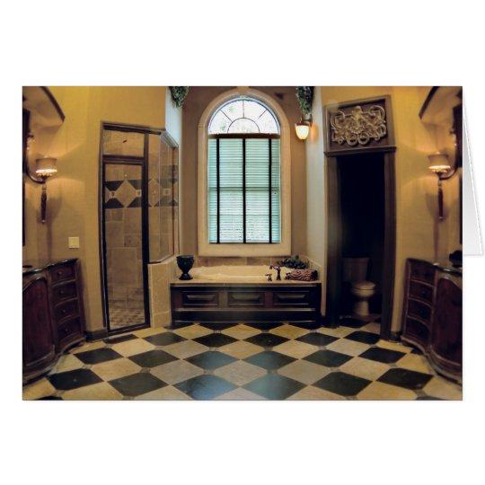 Tarjeta en blanco del baño toscano de lujo