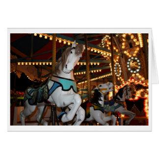 Tarjeta en blanco del caballo del carnaval