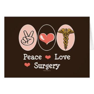 Tarjeta en blanco del cirujano de la cirugía del a
