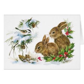 Tarjeta en blanco del día de fiesta de los conejos