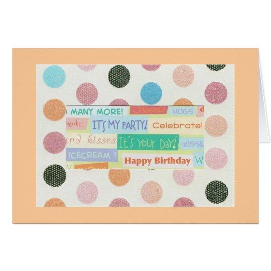 Tarjeta en blanco del feliz cumpleaños