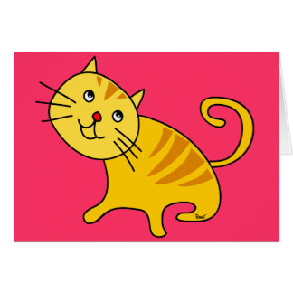 Tarjeta en blanco del gato tímido
