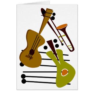 Tarjeta en blanco del jazz