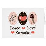 Tarjeta en blanco del Karaoke del amor de la paz