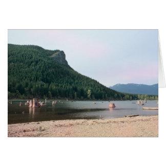 Tarjeta en blanco del lago rattlesnake, Washington