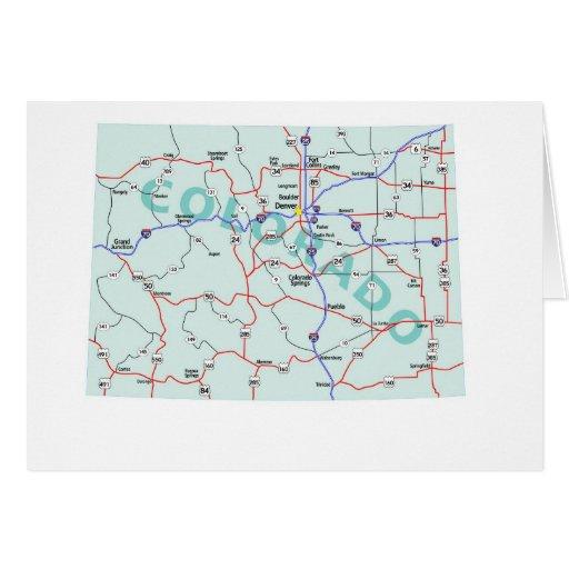 Tarjeta en blanco del mapa de Colorado