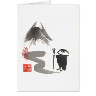 Tarjeta en blanco del peregrino del zen