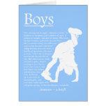 Tarjeta en blanco del poema de los muchachos