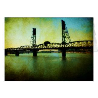"""""""Tarjeta en blanco del puente de Hawthorne"""""""