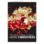 Tarjeta en blanco embellecida de Papá Noel