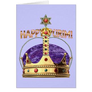 Tarjeta en blanco feliz de Purim