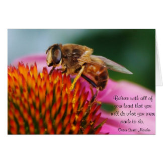 Tarjeta en blanco inspirada de la abeja