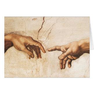 Tarjeta en blanco - la creación de Adán