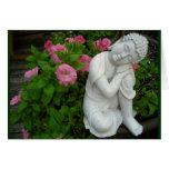 Tarjeta en blanco pacífica de Buda
