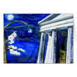 tarjeta en blanco que ofrece las ilustraciones ori