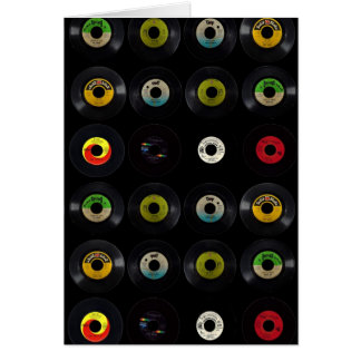 Tarjeta en blanco retra del álbum de disco de vini