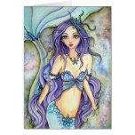 Tarjeta en blanco - sueño de la sirena púrpura