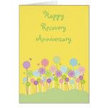 Tarjeta en colores pastel bonita de las flores y d