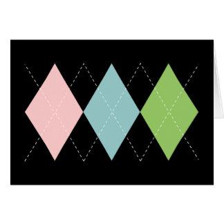 Tarjeta en colores pastel de Argyle