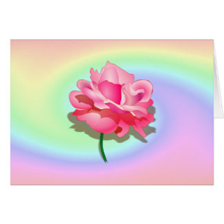 Tarjeta en colores pastel de la onda de Rosey