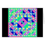 Tarjeta en colores pastel del diseño geométrico 1