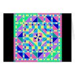 Tarjeta en colores pastel del diseño geométrico 2