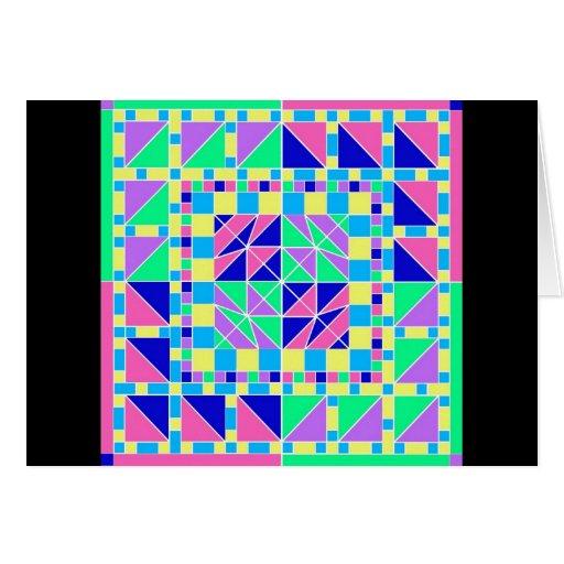 Tarjeta en colores pastel del diseño geométrico 3