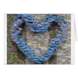 Tarjeta en forma de corazón de Mosiac