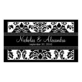 Tarjeta encantadora del Web del boda del damasco Tarjetas De Visita