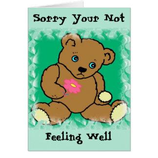 Tarjeta enferma del oso