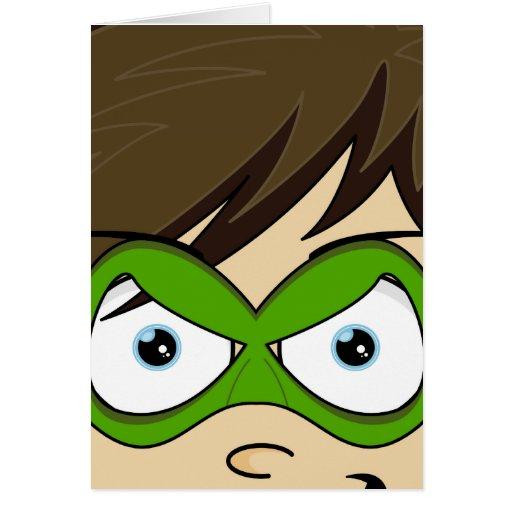 Tarjeta enmascarada del héroe de Superboy