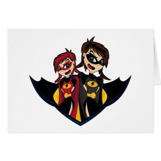 Tarjeta enmascarada del super héroe