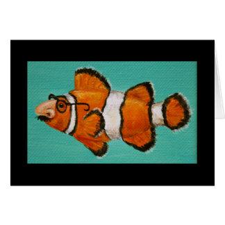 tarjeta enmascarada groucho de los pescados del pa