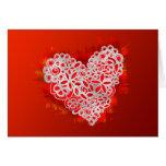 Tarjeta enojada del día de San Valentín del amor