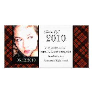 Tarjeta enrrollada de la foto de la invitación de tarjeta con foto personalizada