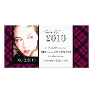 Tarjeta enrrollada de la foto de la invitación de tarjeta fotografica personalizada