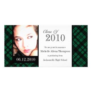 Tarjeta enrrollada de la foto de la invitación de tarjeta personal con foto