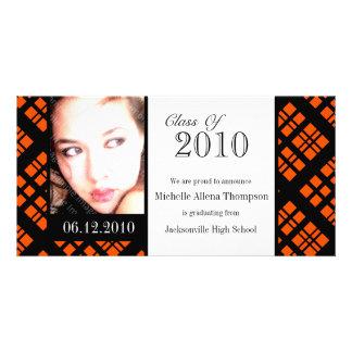 Tarjeta enrrollada de la foto de la invitación de tarjetas fotograficas