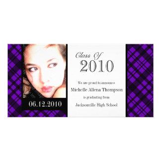 Tarjeta enrrollada de la foto de la invitación de tarjetas fotográficas