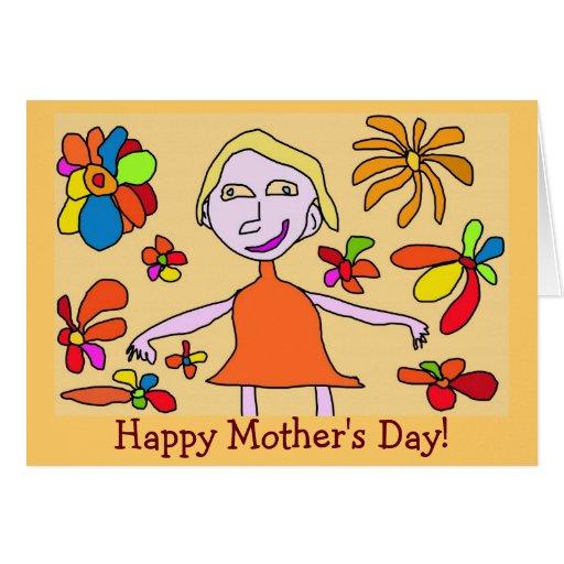 ¡Tarjeta enrrollada del día de madre! Tarjeta De Felicitación
