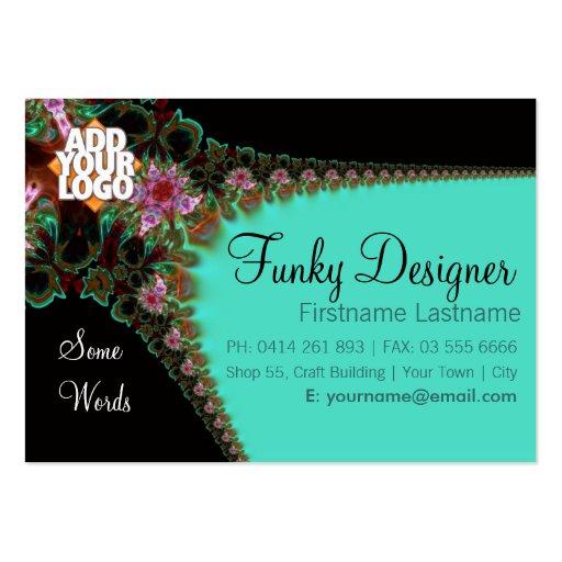 Tarjeta enrrollada del gran negocio del diseñador tarjeta de visita