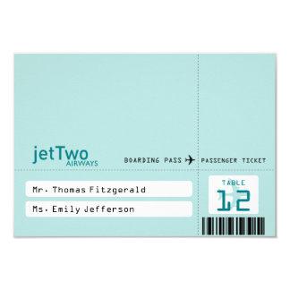 """Tarjeta entoldada del asiento del billete de avión invitación 3.5"""" x 5"""""""