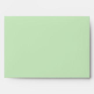 Tarjeta ENV del saludo/de nota de la verde salvia  Sobre