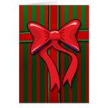 Tarjeta envuelta del regalo de Navidad