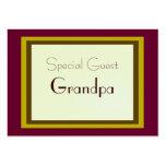 Tarjeta envuelta regalo de la huésped especial tarjeta de visita