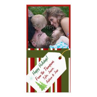 Tarjeta envuelta regalo personalizada de la foto tarjetas fotográficas personalizadas