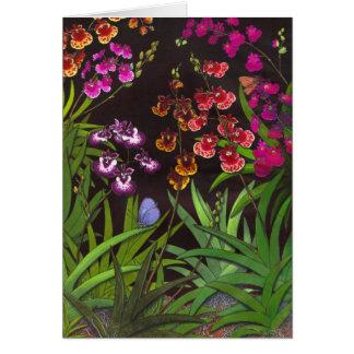 Tarjeta equitante de las orquídeas de Oncidium Tol